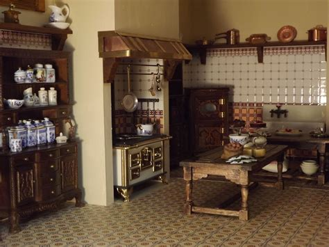 victorian kitchen late victorian english manor dollhouse 1 12 miniature