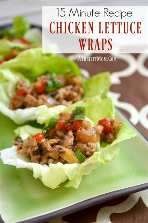 Fast Easy And Snappy 15 Minutes Recipes by Chicken Lettuce Wraps 15 Minutes Recipe Easy Dinner Ideas