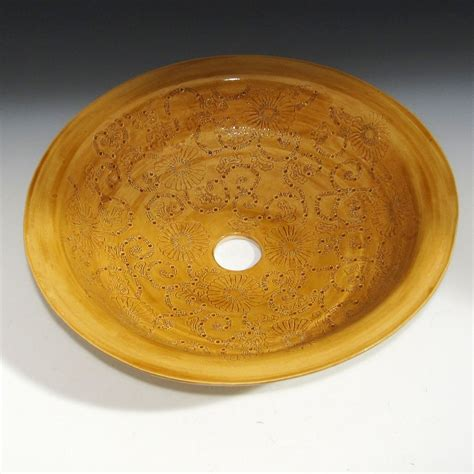 thrown pottery sinks crafted thrown pottery sink with engraved