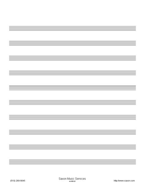 free printable staff paper with bar lines bar staff paper with lines pictures to pin on pinterest