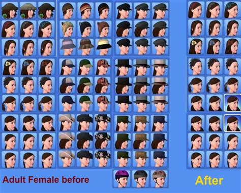 the sims 3 hairstyles and their expansion pack mod the sims i hate hats base game hat hider