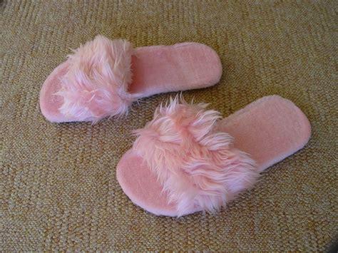 fluffy slippers pink womens flat fluffy slippers uk 4 5 6 7 8 ebay