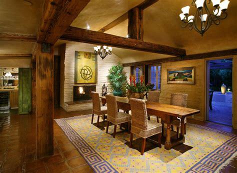 old adobe renovation addition southwestern dining