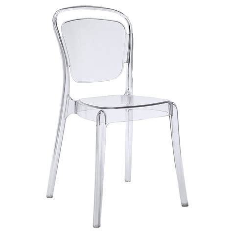 Modern Clear Dining Chairs Modern Dining Chairs Entice Clear Side Chair Eurway