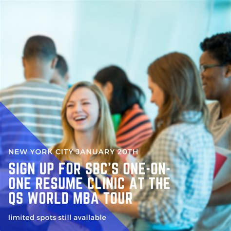 Qs World Mba Tour Boston by Free Sbc Resume Clinic At Upcoming Qs World Mba Tour The