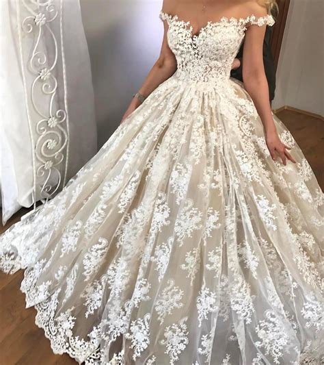 Wedding Dress The Shoulder by Lace Wedding Dress Shoulder Wedding Dress