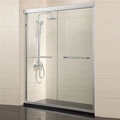 Waagee 60 Quot Width 2 Frameless Sliding Bathtub Shower Door 1 Buy Shower Doors