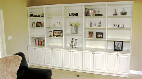 Fantastically Decorated Built In Cabinets Built In White Built In Bookcases