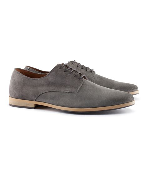Suede Shoes Grey h m suede shoes in gray for grey lyst