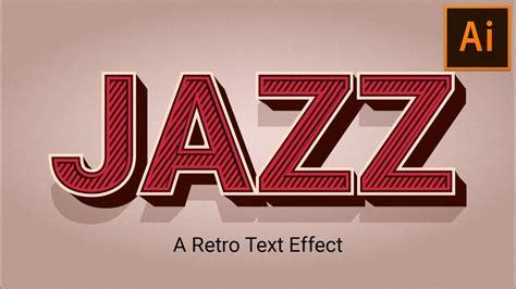 tutorial illustrator retro retro vintage text effect illustrator tutorial youtube