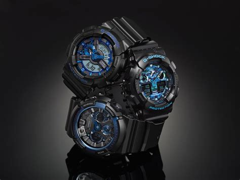 G Shock Ga 1000b Blue Black review g shock cool blue color series