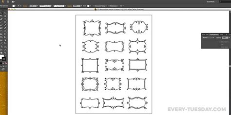 Tutorial Vector Frame   how to create a vector decorative frame in illustrator