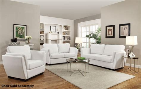 lois white leather sofa and loveseat set a sofa