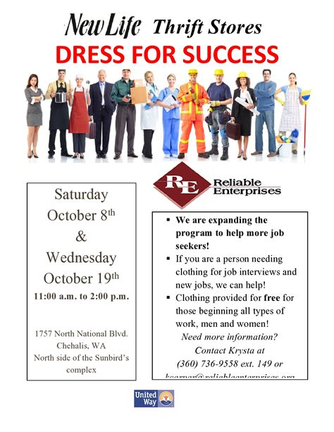 dress for success dress for success flyer page0001 centralia chehalis