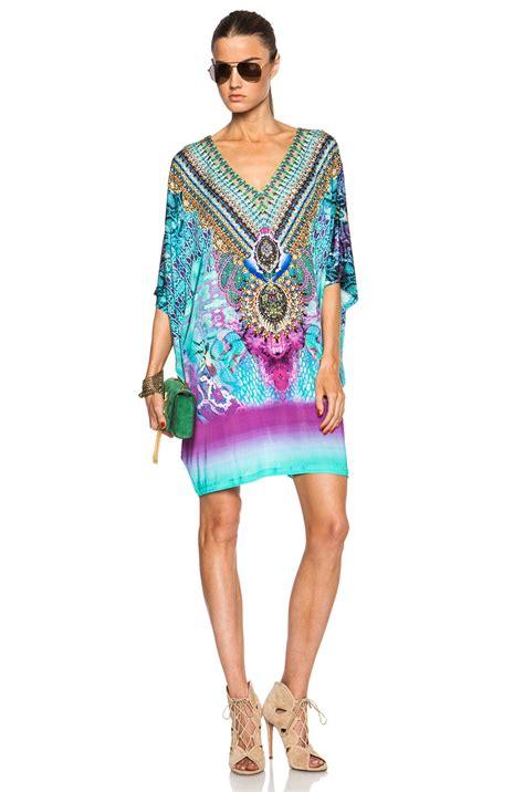 camilla bat sleeve dress in multicolor tides of