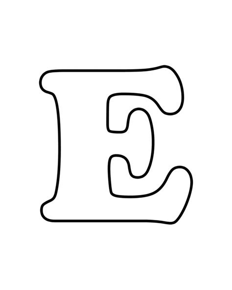 The Letter E Coloring Pages free coloring pages of e letter d