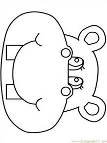 hippo coloring pages for kids coloring home