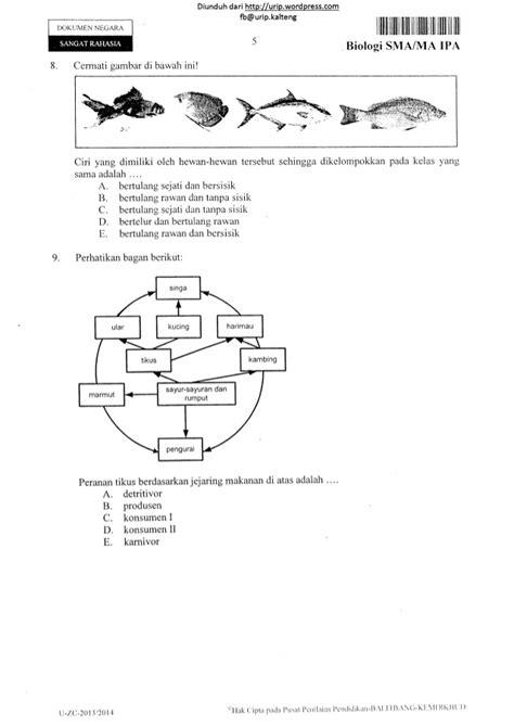 X Press Un Biologi Sma soal un biologi ipa sma tahun 2014 13