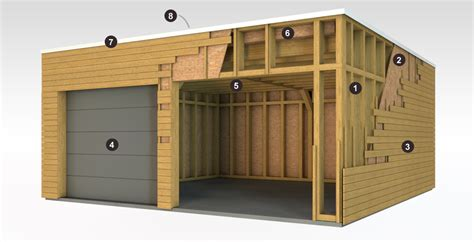 Garage Metallique En Kit 40m2 4108 by Garage Ossature Bois Bois Et