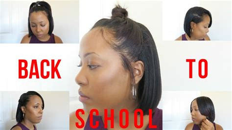 Hairstyles For Hair Black Back To School by 9 Heatless Back To School Hairstyles For Relaxed And