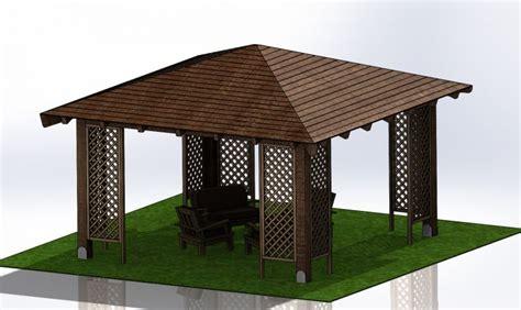 gazebo in legno 4x4 gazebo in legno kroll 4x4 mt