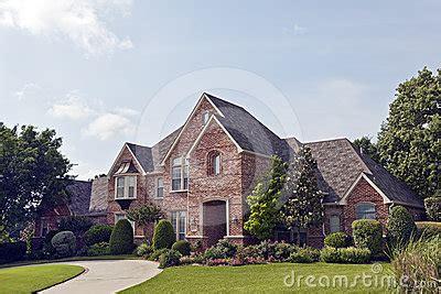 luxury brick house plans luxury brick house stock photography image 24609962
