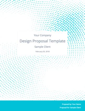 the perfect graphic design proposal template and bonus