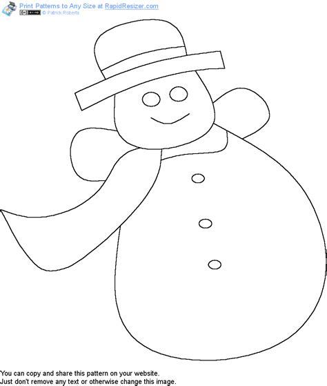 printable snowman craft patterns free snowman pattern