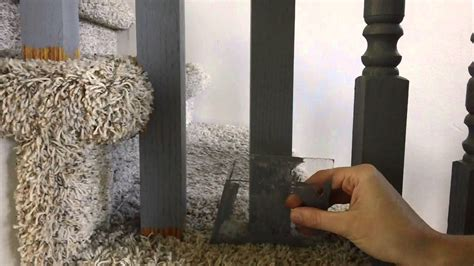 Wooden Banister Rails How To Paint Spindles On A Carpeted Staircase Youtube