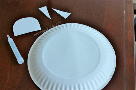 How To Make A Flying Saucer Out Of Paper - diy glow in the paper plate flying saucer