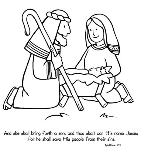 jesus is born nativity coloring page birth of jesus coloring page