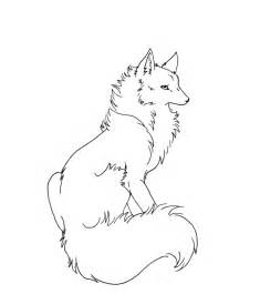 Wolf Sitting Outline by Wolf Anime By Dantej76 On Deviantart