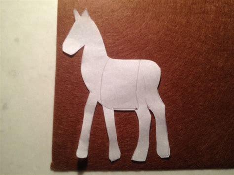 pony outline tracing paper pony shape horse shape horse