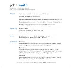 Templates For Resumes On Word Free Resume Templates Word Cyberuse