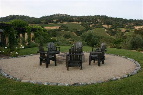Decomposed Granite Patios Wine Country Firepit Mediterranean Landscape San