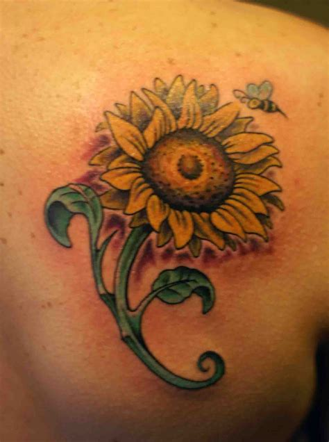 sunflower rose tattoo sunflower tattoos designs ideas and meaning tattoos for you