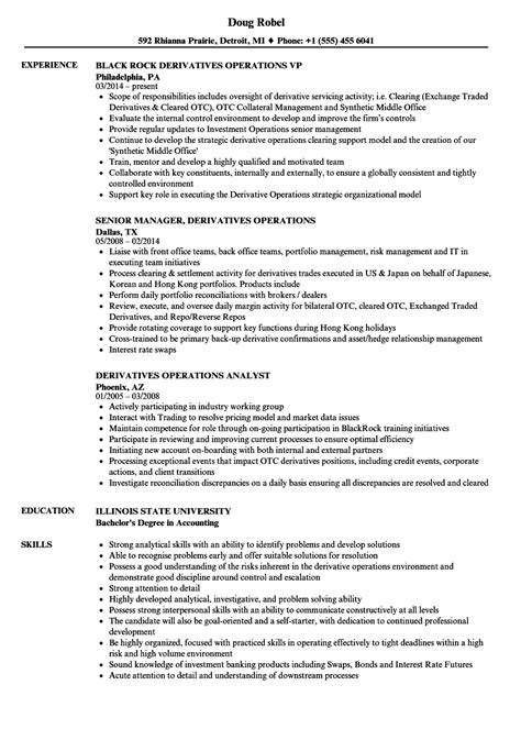 Derivatives Analyst Sle Resume by Data Operations Analyst Description Resume Help Best Resume Templates