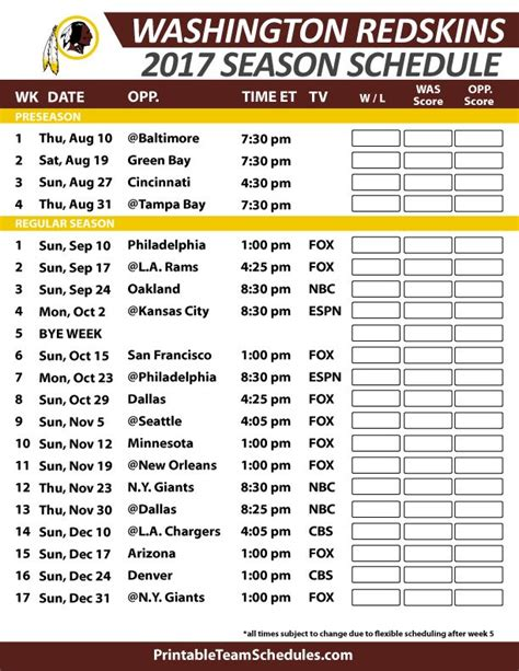 best 25 redskins schedule ideas on redskins