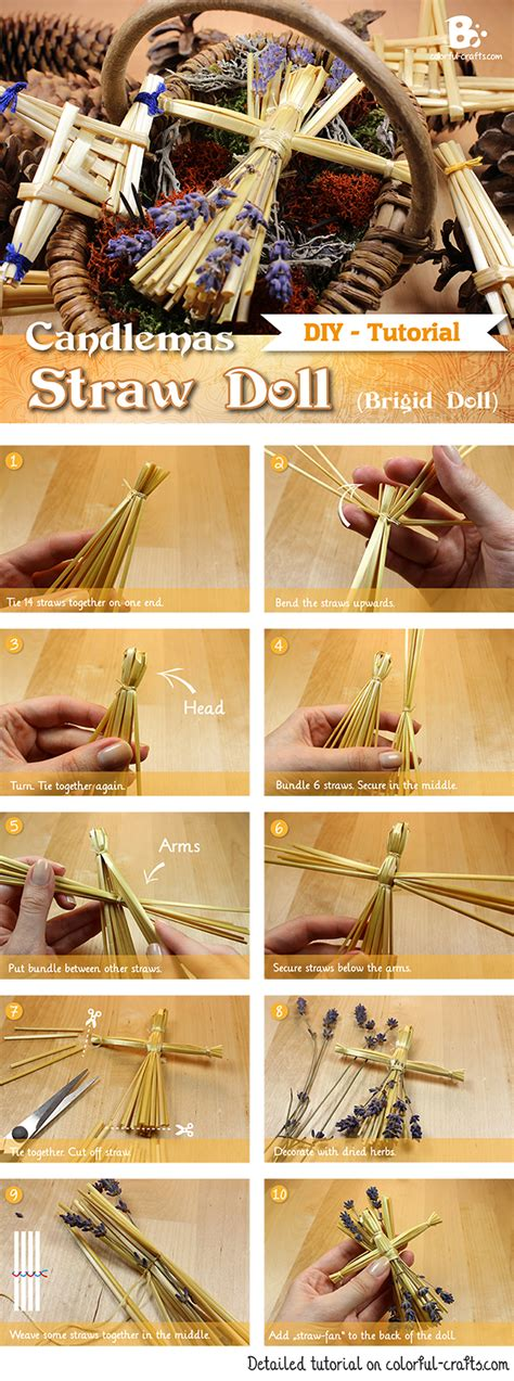 pagan craft projects how to make a brigid doll straw doll colorful crafts