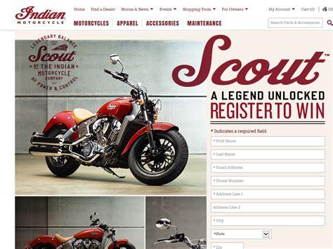 Motorcycle Giveaway Contest 2015 - 2015 indian motorcycle bike sweepstakes sweepstakes fanatics
