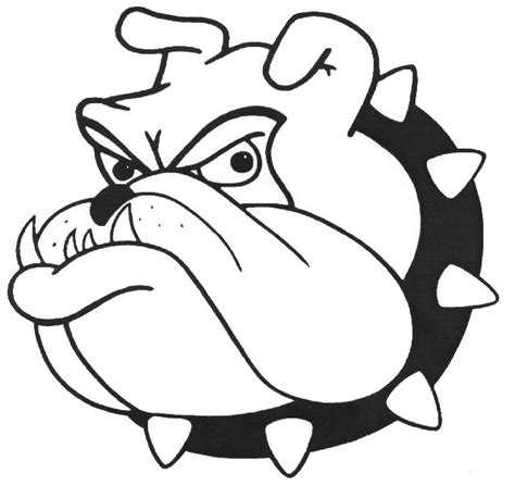 go bulldogs coloring pages