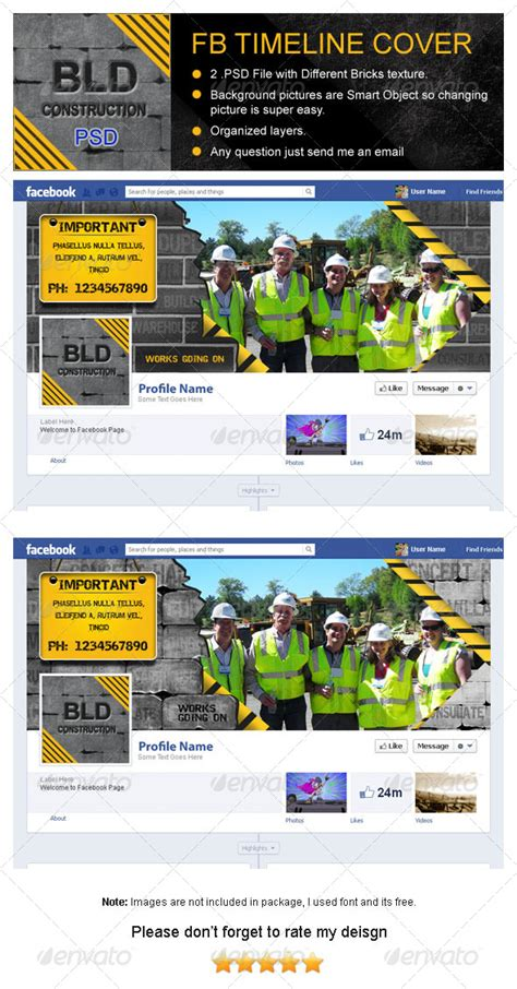 building construction fb timeline cover graphicriver
