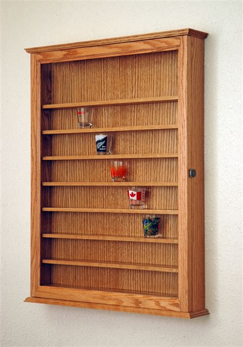 kitchen wall display cabinets 72 oak shot glass display case cabinet