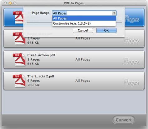 convert pdf to word selected pages wondershare pdf to pages for mac user guide
