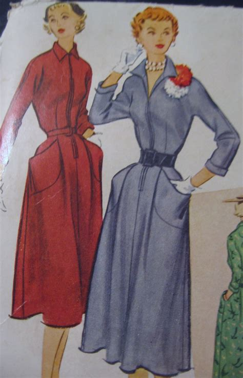 dress pattern front zipper vintage front zipper dress sewing pattern mccalls no 9065