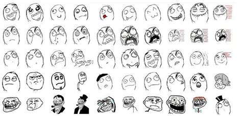 List Of Meme Faces - image gallery meme list
