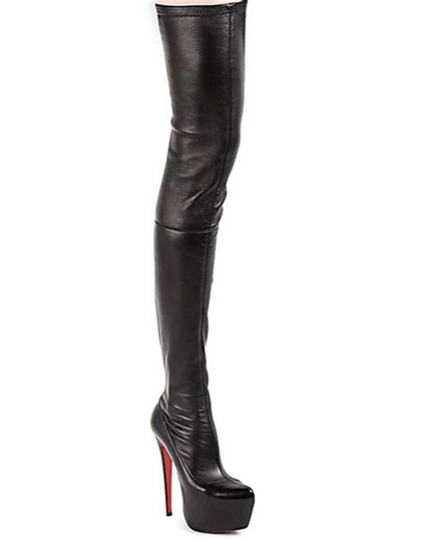 ciara wears christian louboutin thigh high boots sparkly