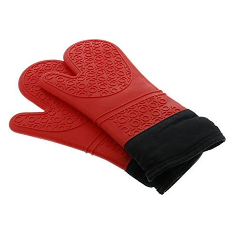 Model Kitchen Gloves Silicone Oven Mitts Heat Resistant Bbq