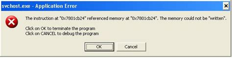 Fix Svchost Exe Application Error Memory Could Not Be