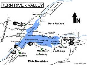 kern river valley area map lake ca mappery